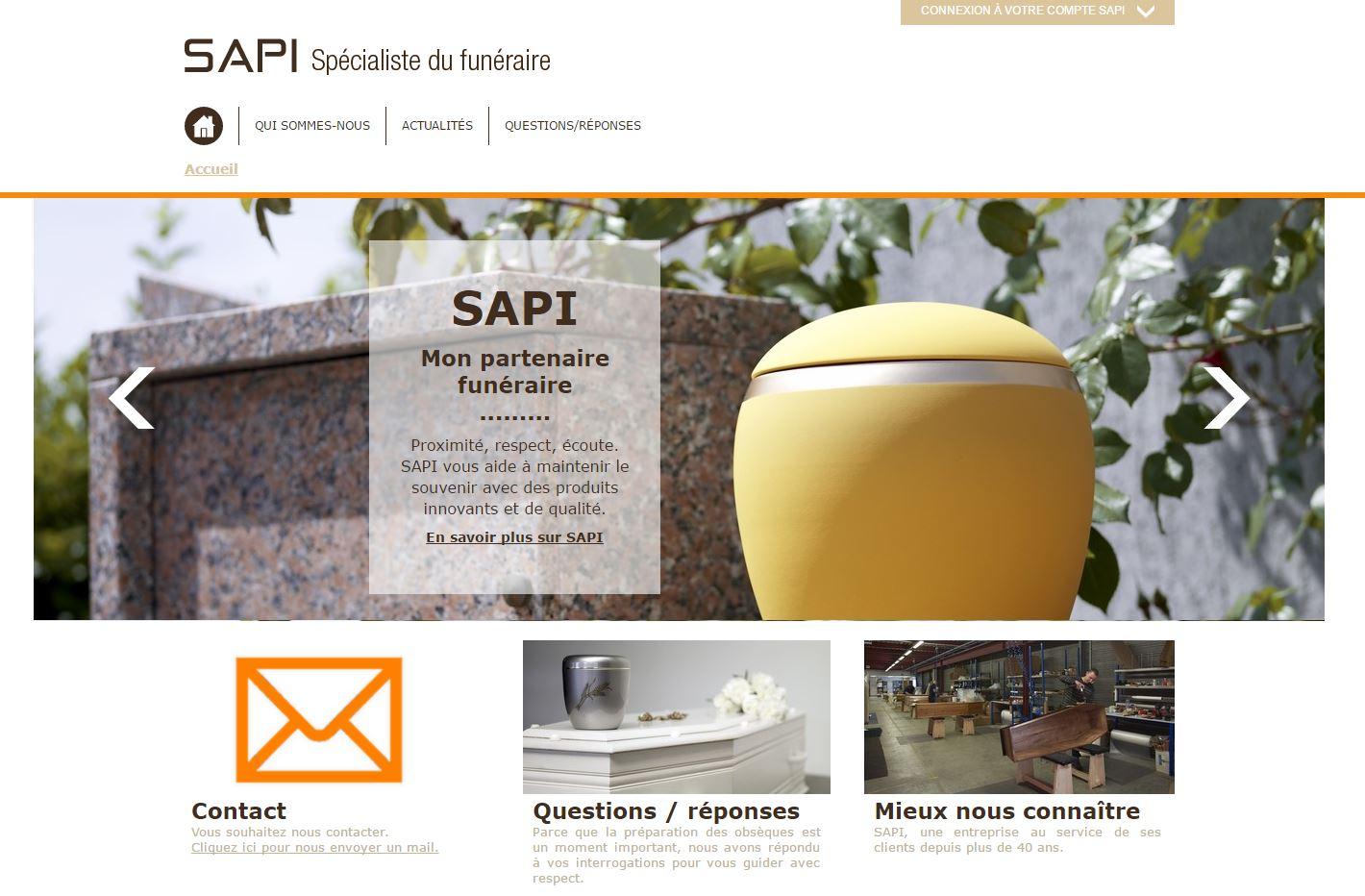 SAPI: cercueils et distribution funeraire
